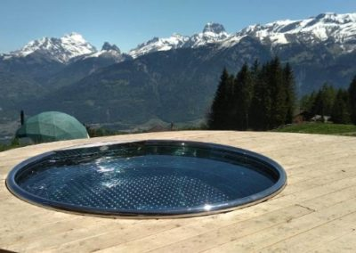 Stainless steel over flow jacuzzi, jacuzzi hot tub Stainless Steel